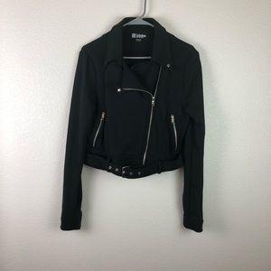 LuLaRoe Moto Style Black Jacket M